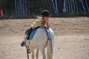 Paardrijden op de manege of paardenrijschool